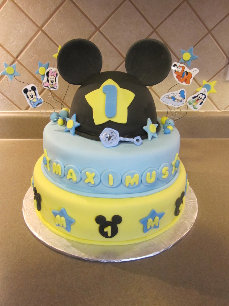 Baby Mickey Birthday Cake Cakecentral