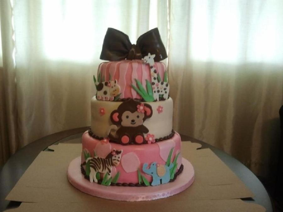 Monkey And Friends Baby Shower Cake on Cake Central