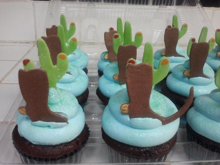 Cactus And Boots Cupcakes  on Cake Central