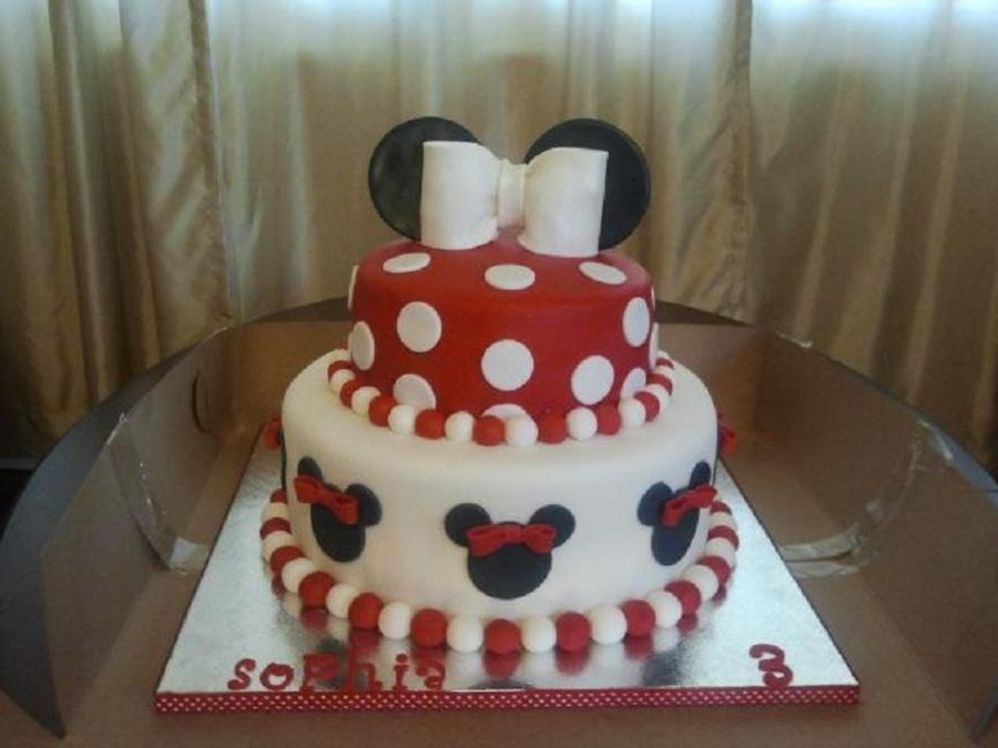 Red & White Minnie Cake on Cake Central