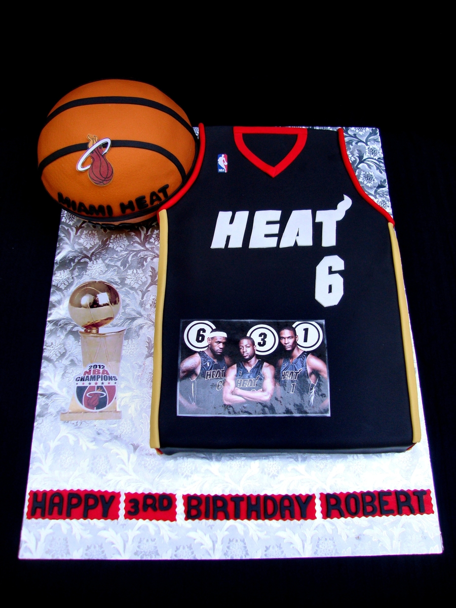 Miami Heat Jersey on Cake Central