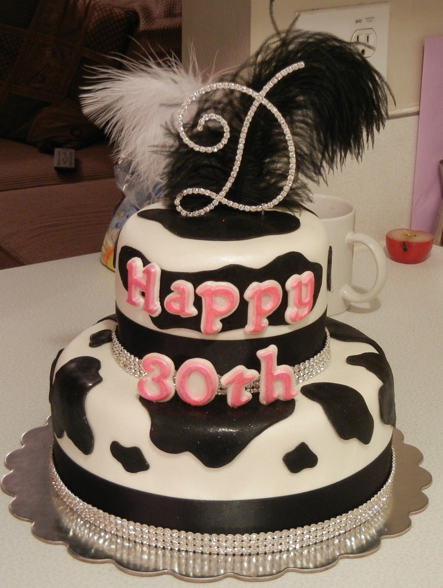 Cool Diva Cow Print Birthday Cake Cakecentral Com Funny Birthday Cards Online Alyptdamsfinfo