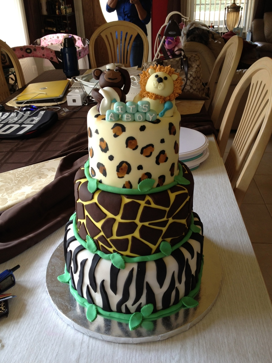 Safari Baby Shower Cake On Cake Central