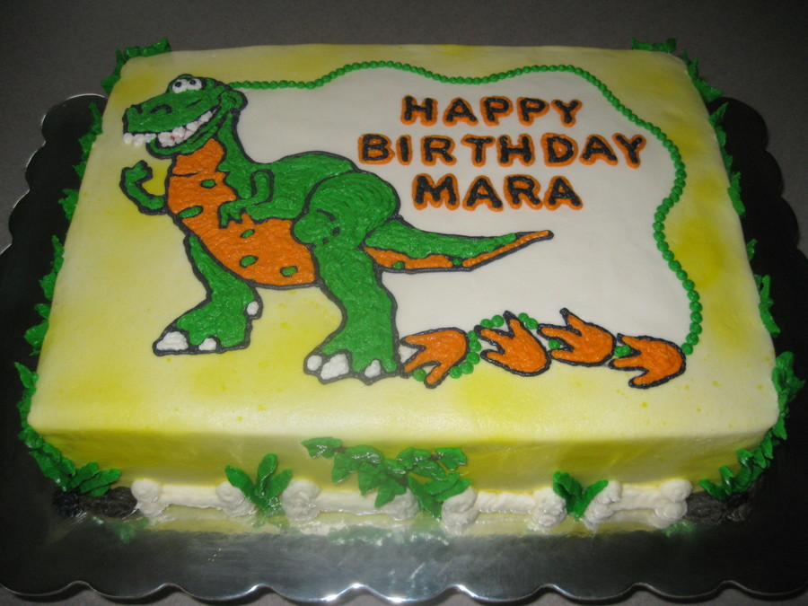 Pleasing T Rex Birthday Cake Cakecentral Com Personalised Birthday Cards Paralily Jamesorg