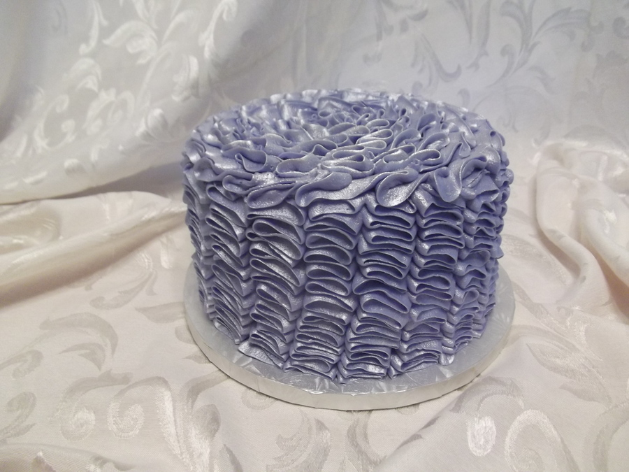 Vertical Ruffle In Purple on Cake Central