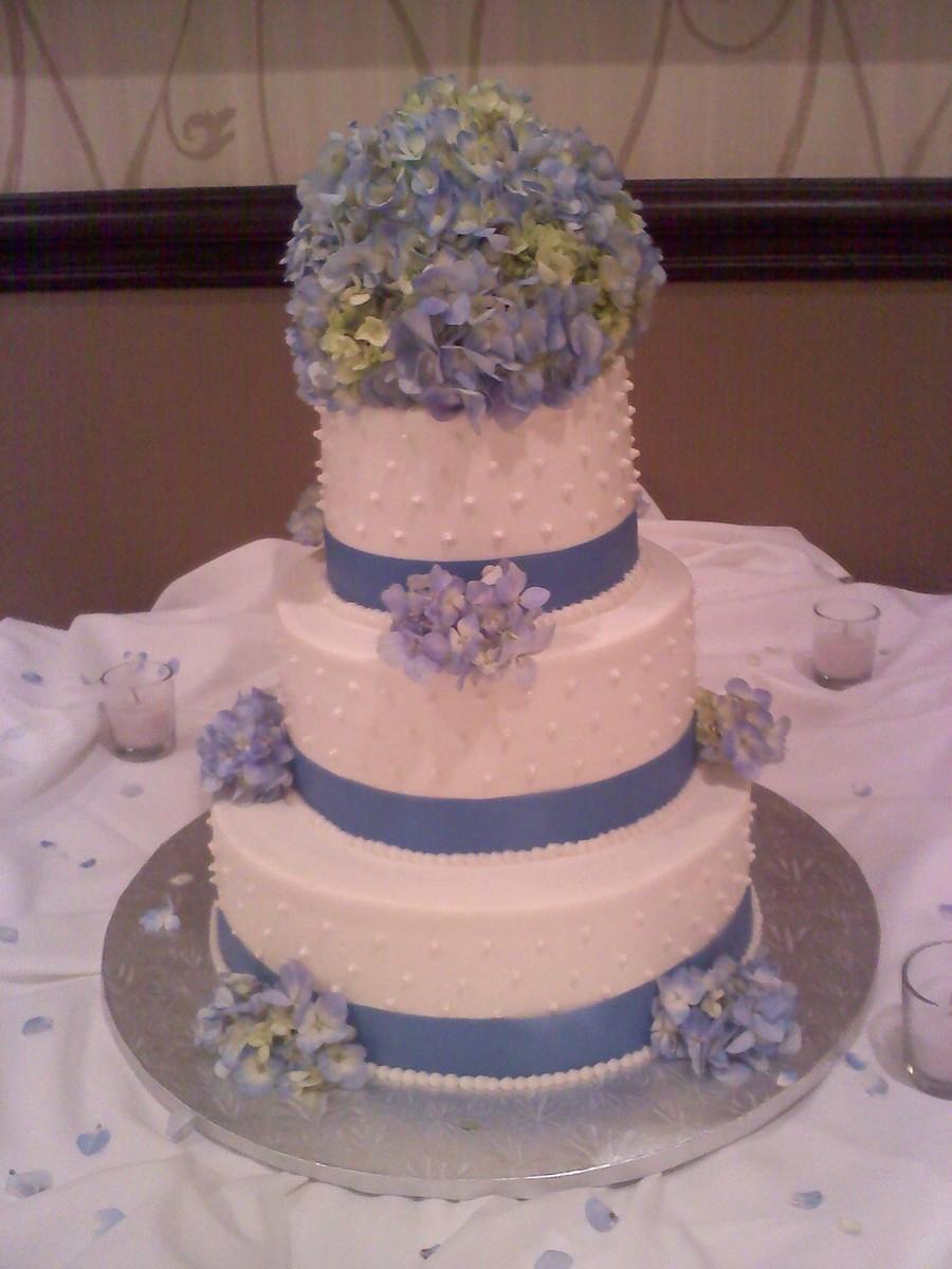 Hydrangea Wedding Cake - CakeCentral.com