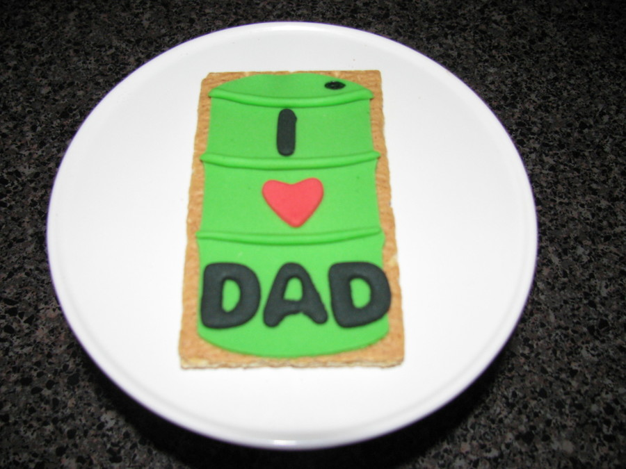 Oil Drum Cookie For Fathers Day on Cake Central
