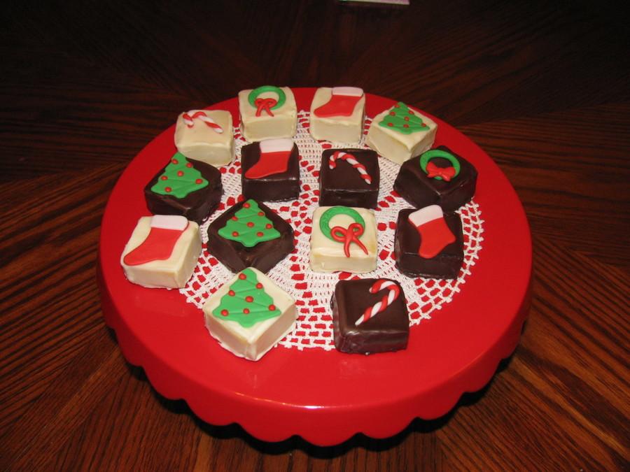 Christmas Cake Pop Squares Chocolate Cake With Chocolate