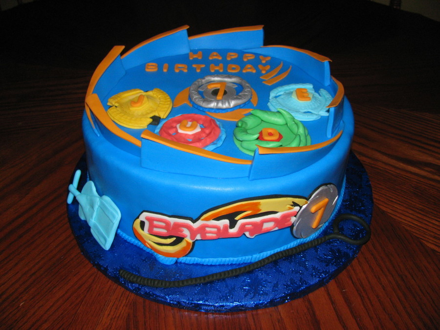Beyblade Birthday Cake on Cake Central