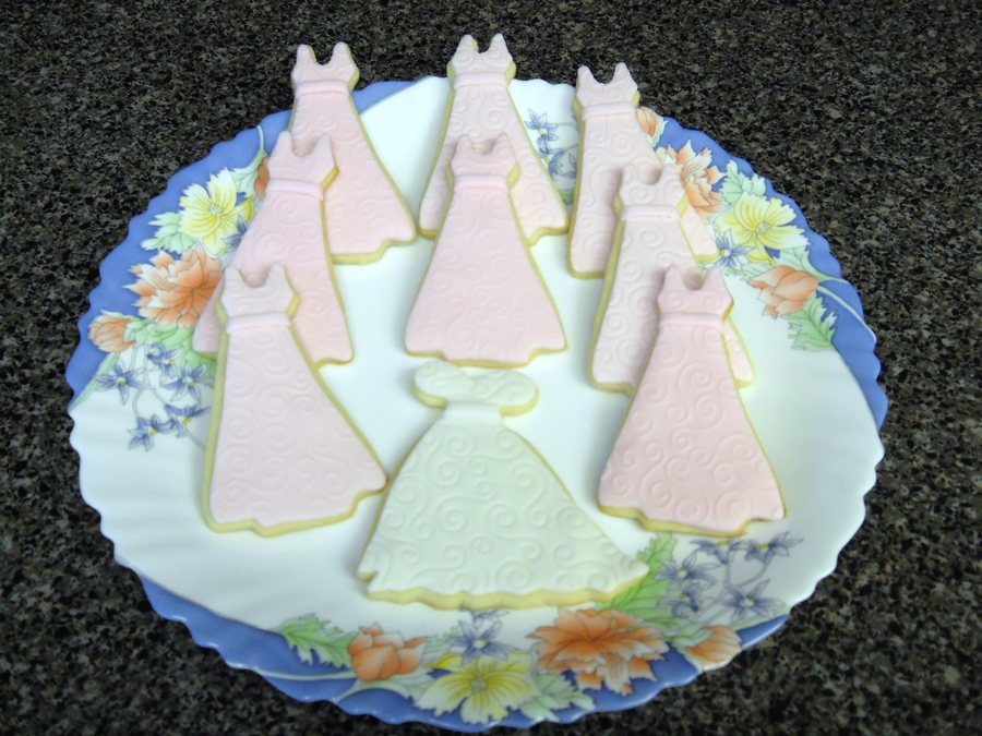 Wedding Dress Cookies on Cake Central