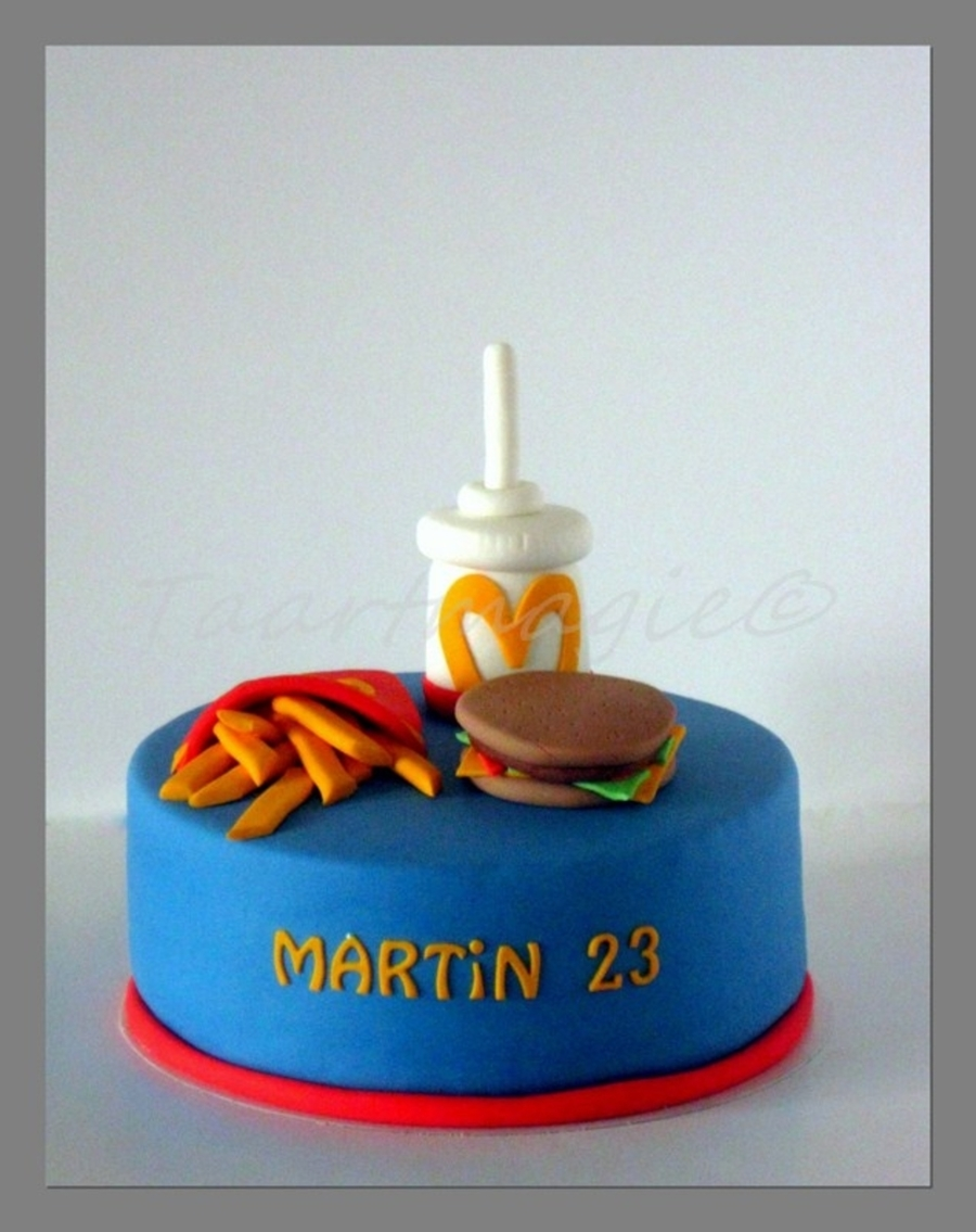 Mcdonald Hamburger on Cake Central