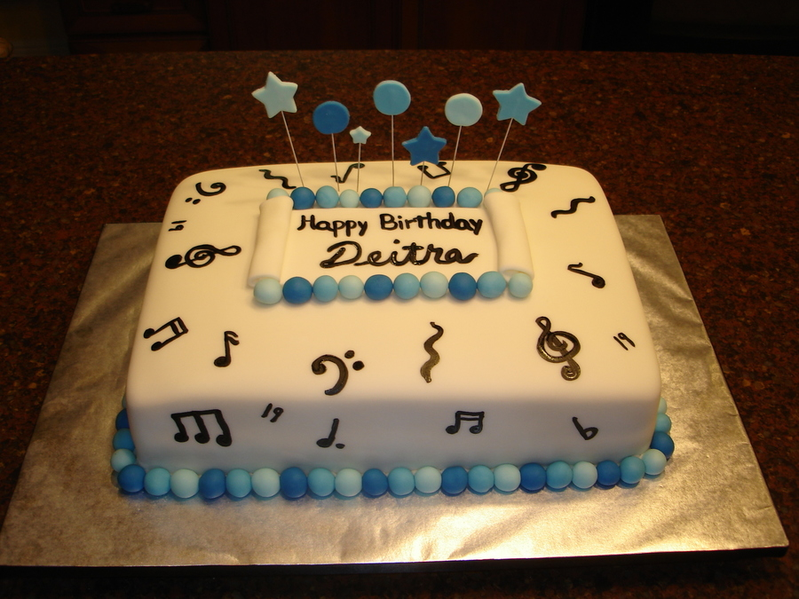 Cake Decorating Music Notes : Music Note Cake - CakeCentral.com