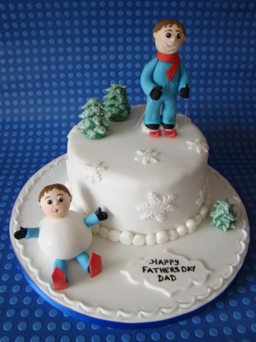 Skiing! on Cake Central