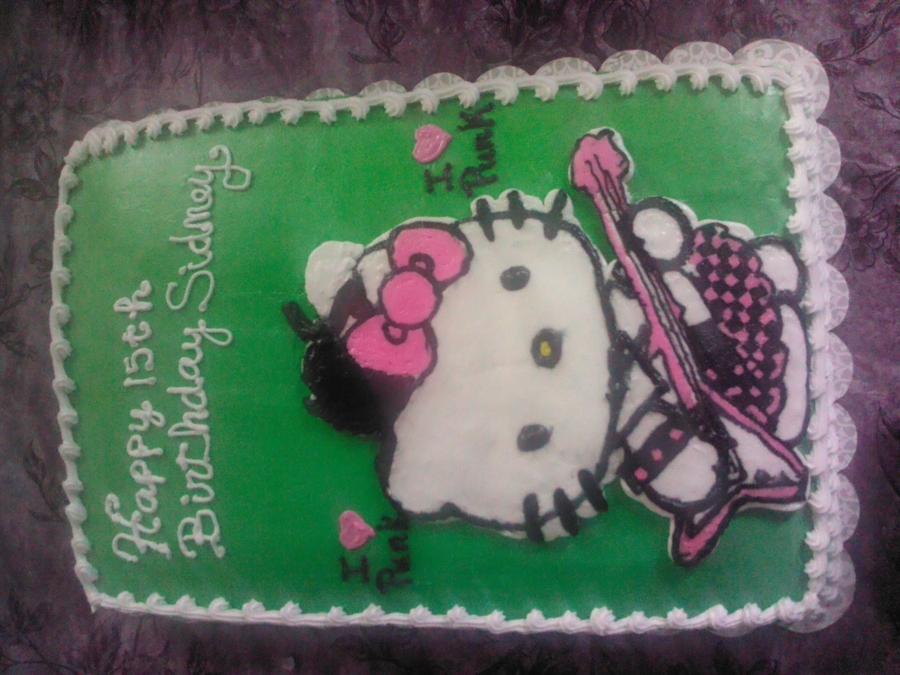 Punk Rock Hello Kitty 1/28/2012  on Cake Central