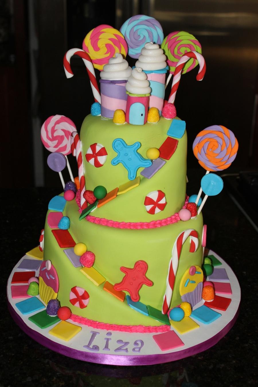 Candyland Cake Cakecentral Com