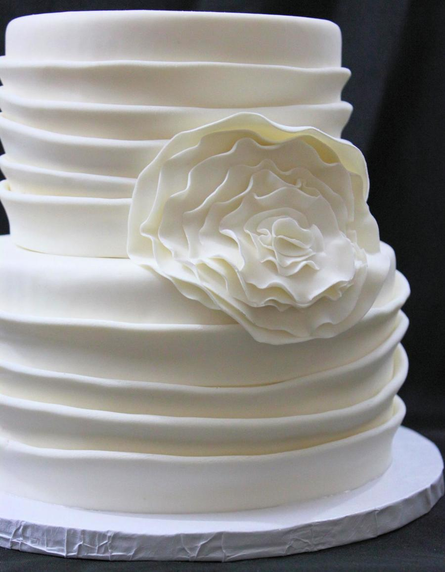 Ruffle Flower on Cake Central