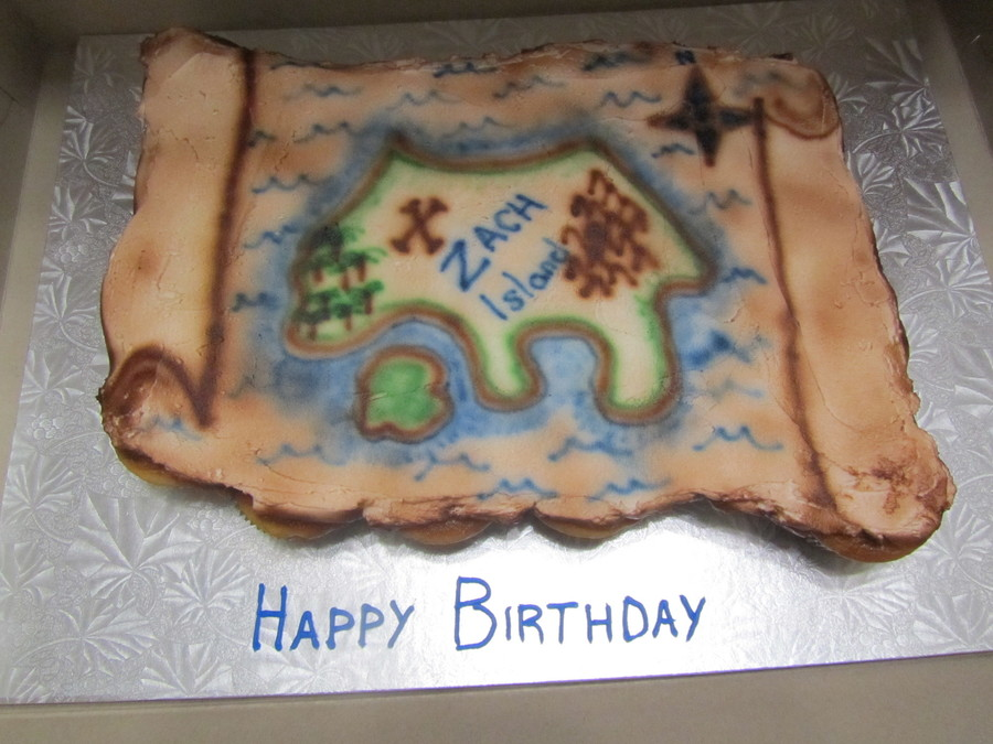 Treasure Map on Cake Central