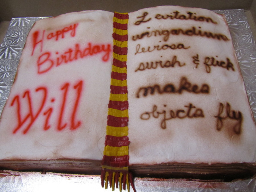 Harry Potter Book Of Spells on Cake Central