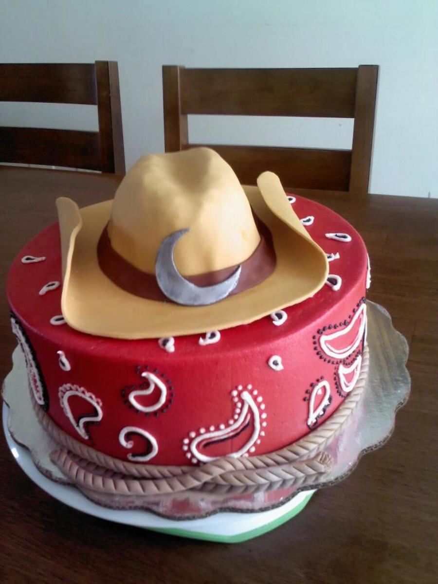 Adult Birthday Cowgirl Boots Cake