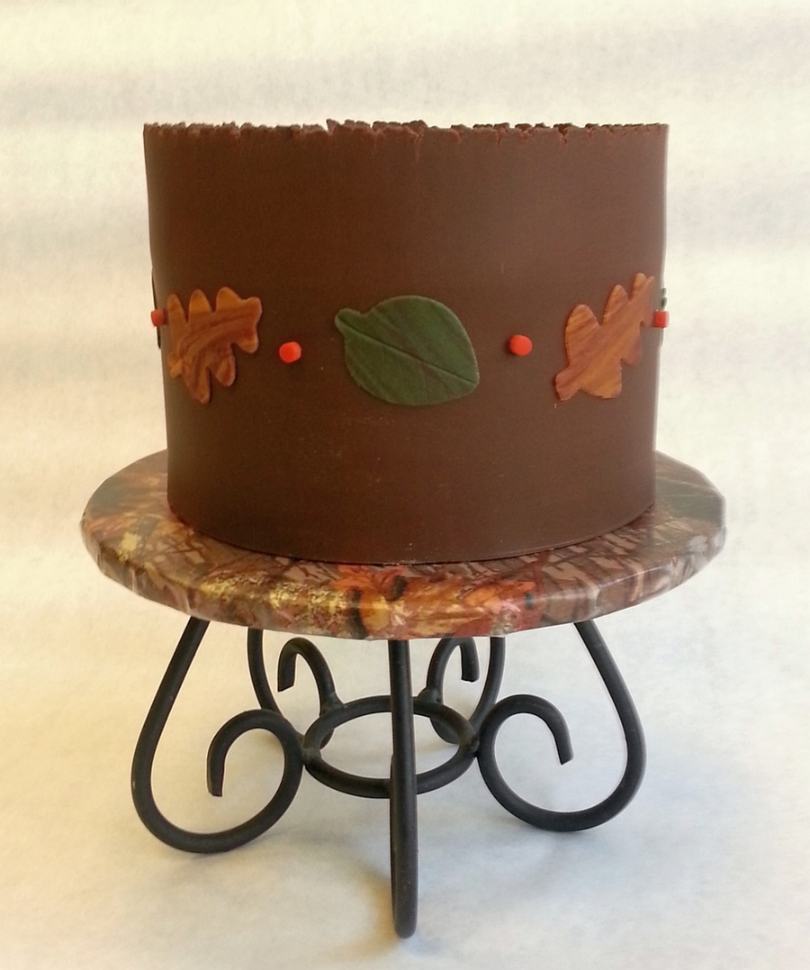 My First Wrapped Cake Modeling Chocolate Decorations Also Made ...