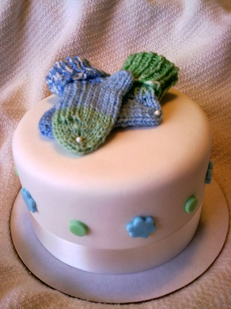 Baby Booties Cake  on Cake Central