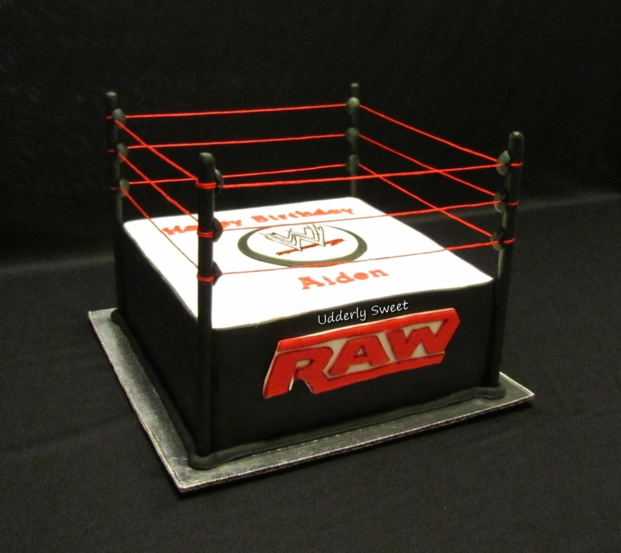 Wwe Wrestling Ring Cake on Cake Central