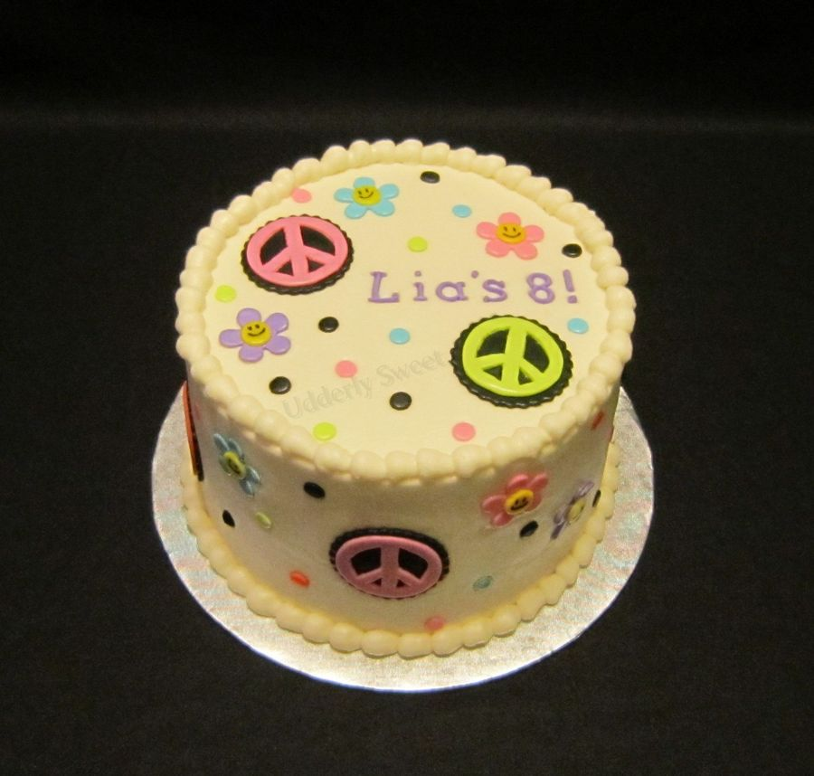 Girly Peace Sign Cake on Cake Central