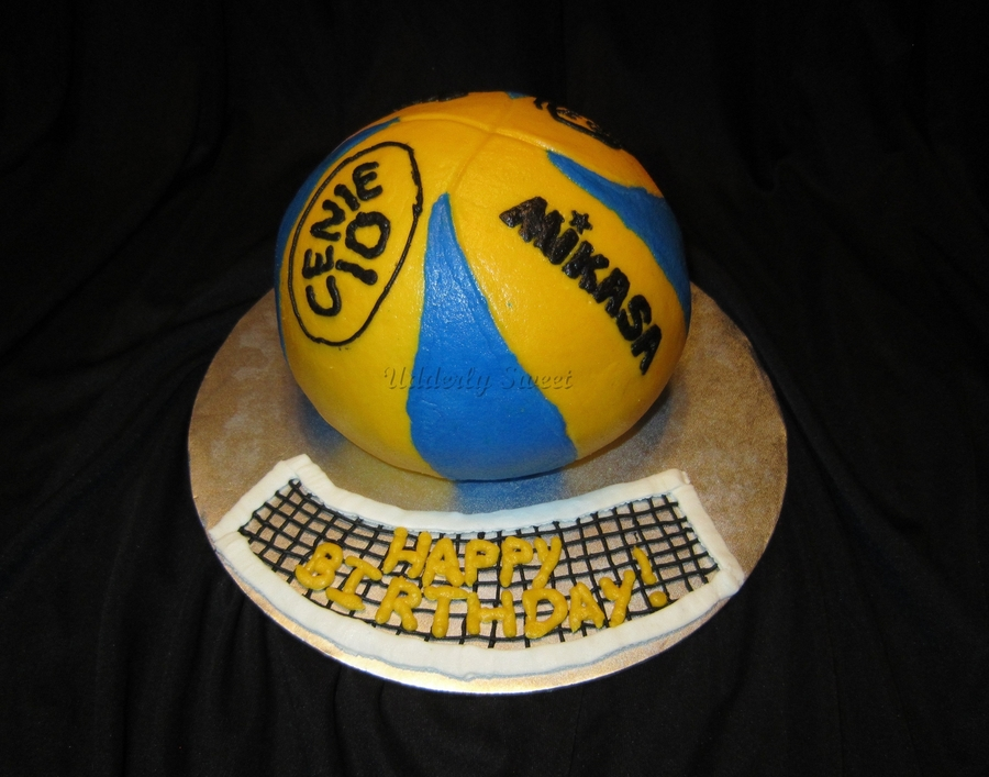 Mikasa Volleyball Cake Cakecentral Com