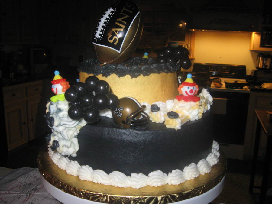 Saints Themed Birthday Cake For A Two Year Old Almond ...