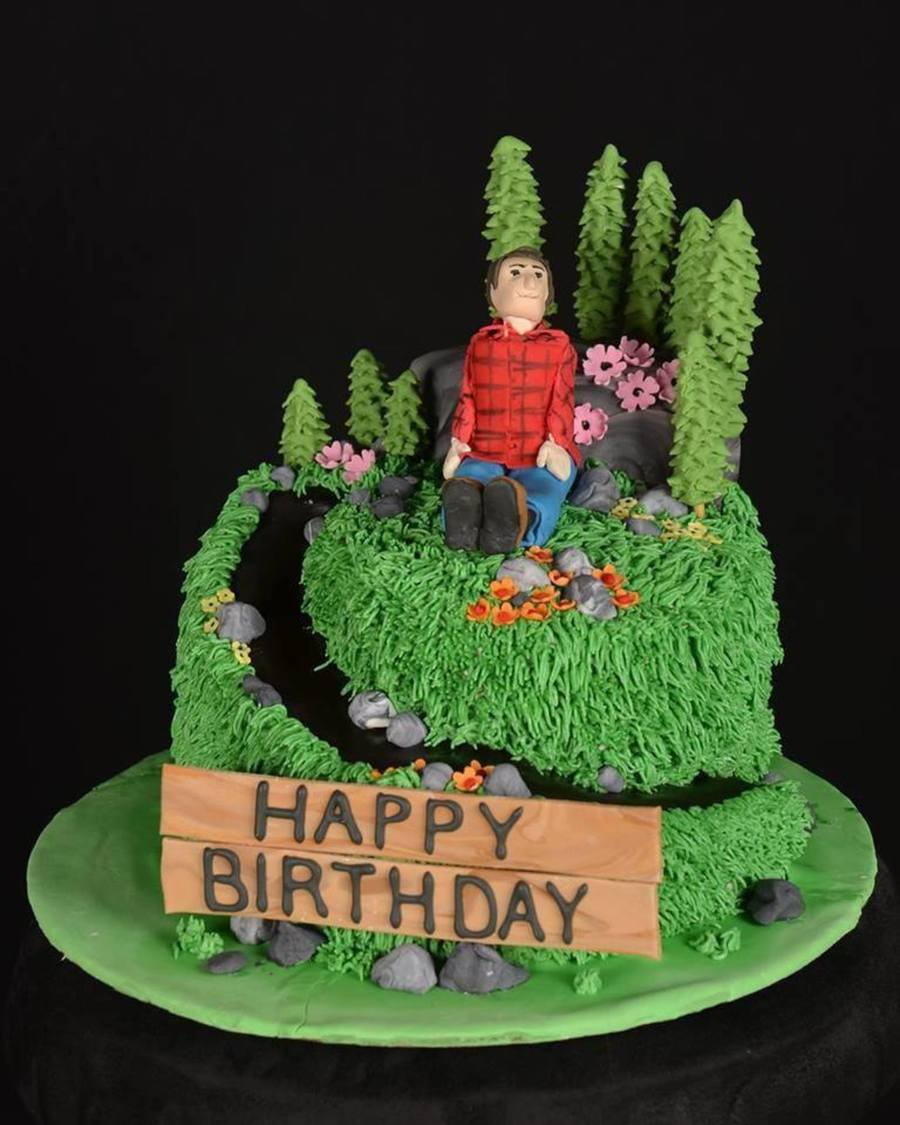 Hiking Cake: Hiking Birthday Cake