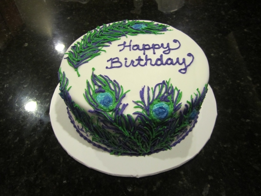 Peacock Birthday Cake on Cake Central