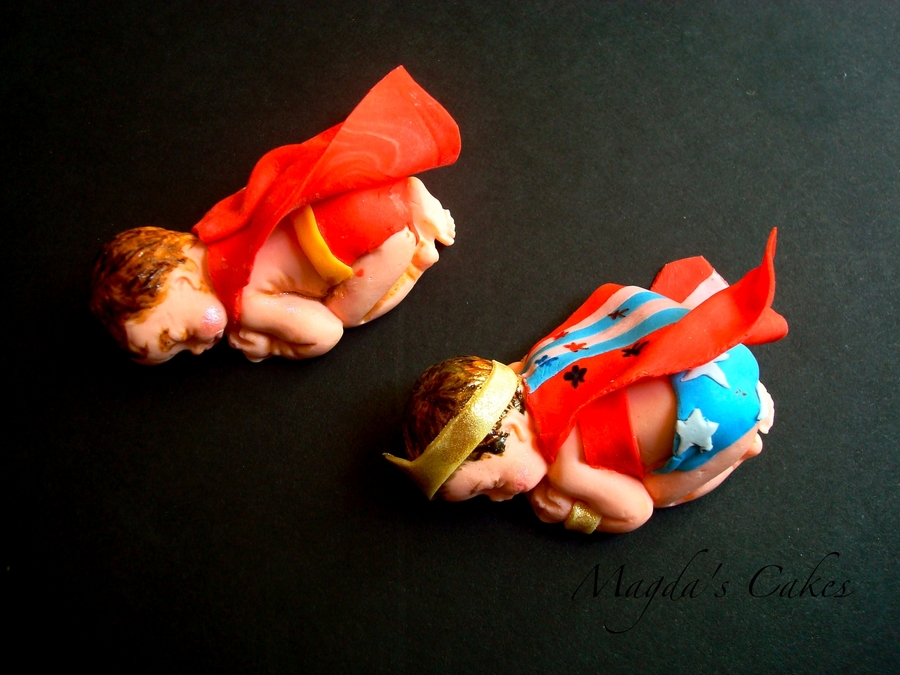 Superman And Superwoman Babies on Cake Central