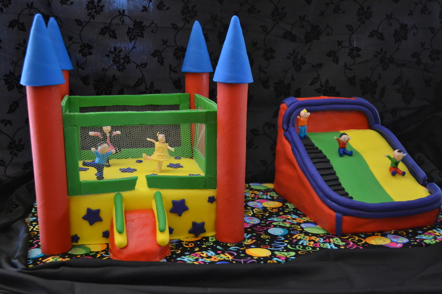 How To Make A Bounce House Birthday Cake