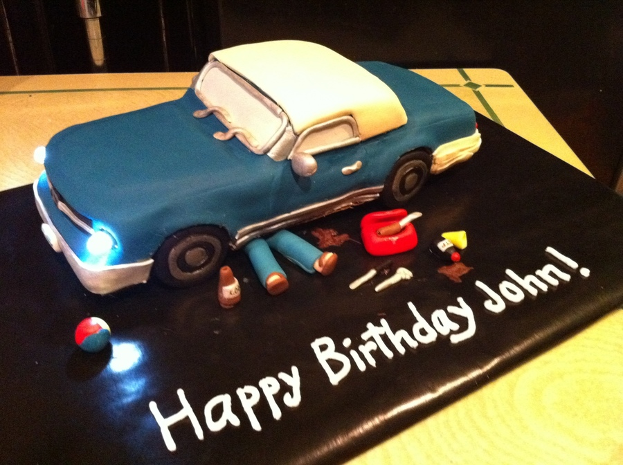 FixerUp Car Birthday Cake CakeCentralcom