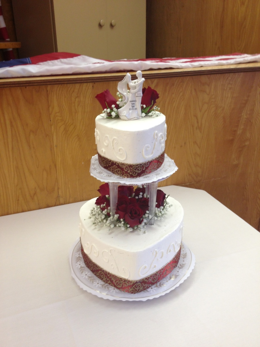 heart shaped wedding cake shaped winter wedding cake cakecentral 15153