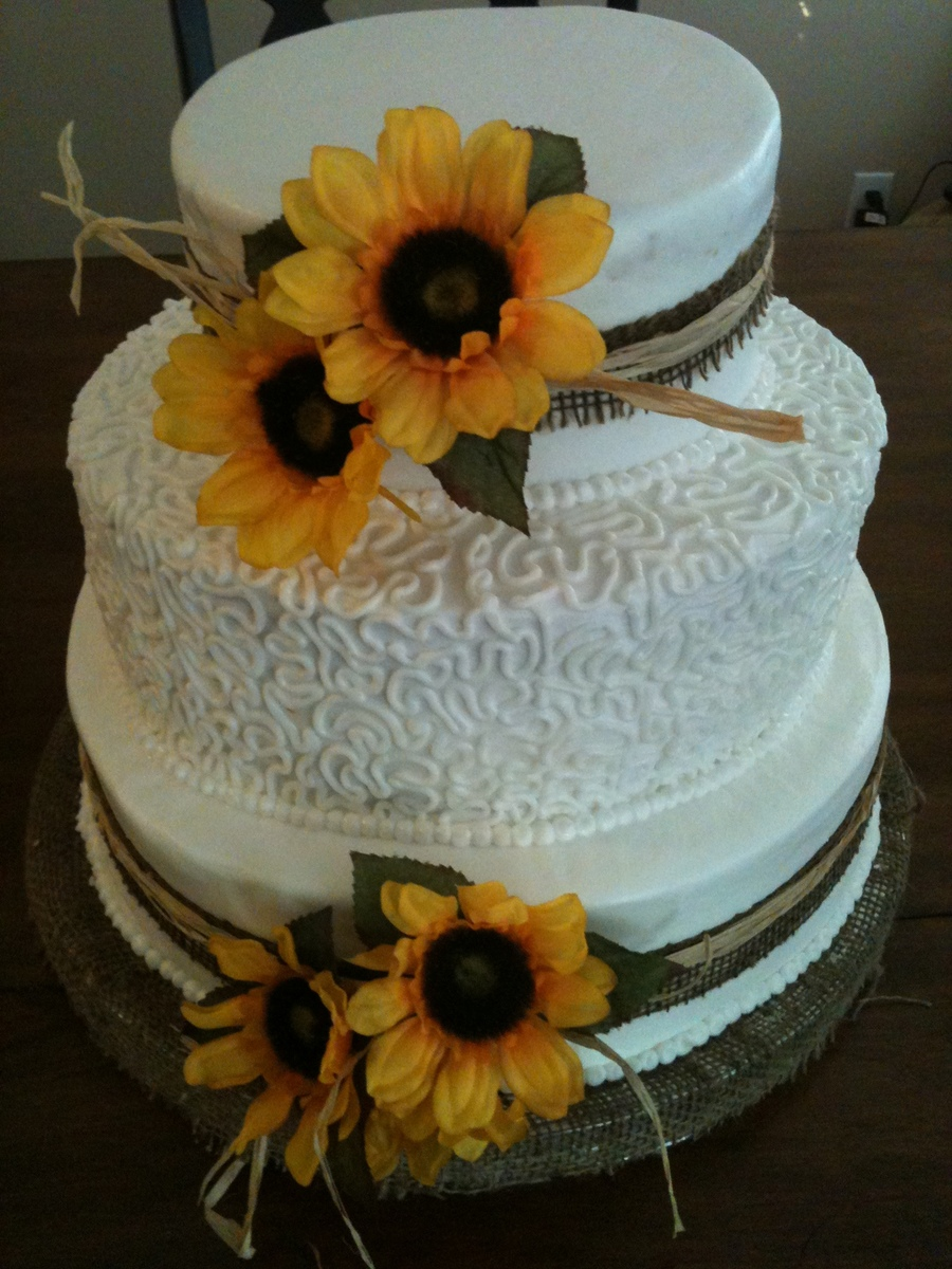 Bride Was Having A Rustic Wedding And Wanted Sunflowers