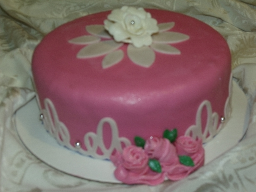 My Sisters Birthday Cake on Cake Central