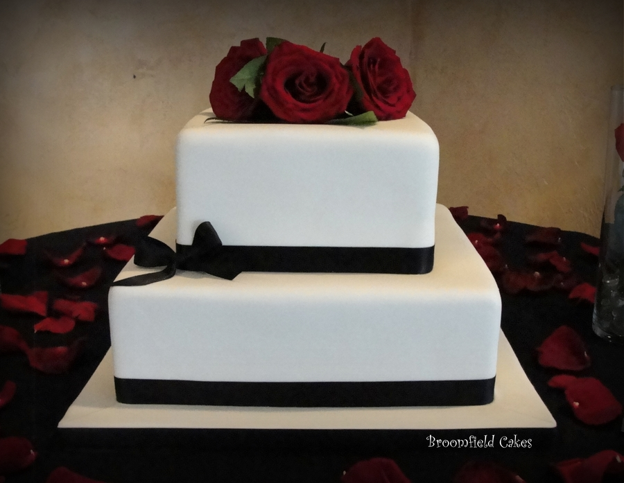 Simple fondant wedding cake cakecentral simple fondant wedding cake on cake central junglespirit Gallery