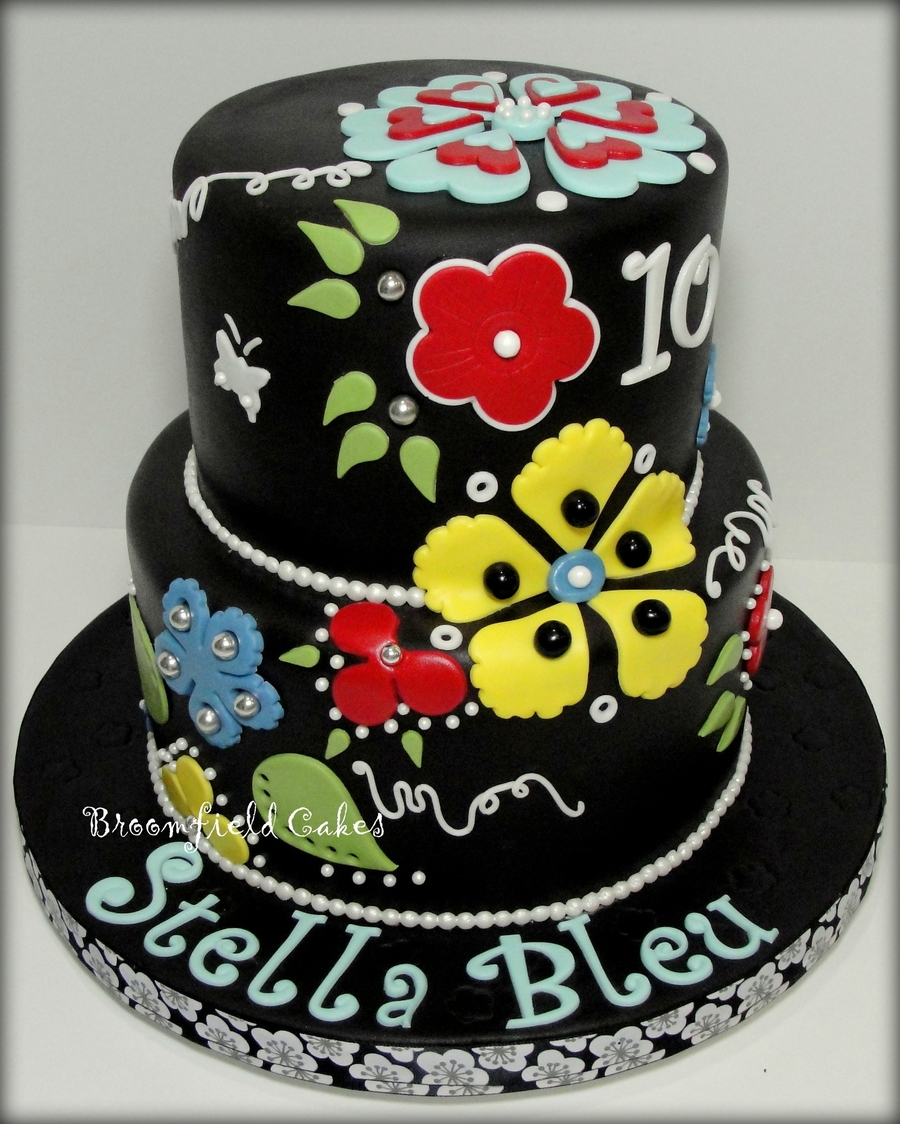 Flower Cut-Out Cake on Cake Central