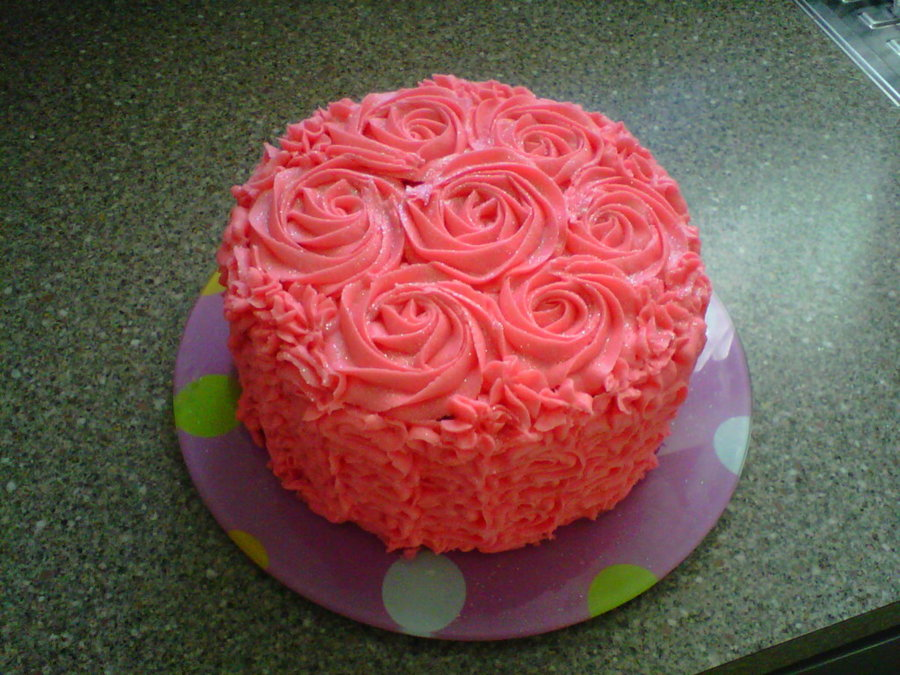 A Quick Last Minute Birthday Cake Chocolate With Bright Pink Buttercream Frosting On Central