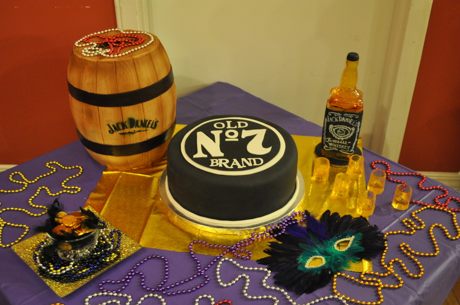Jack Daniels Cake And Showpiece on Cake Central