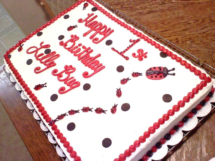Enjoyable Ladybug 1St Birthday Cake Cakecentral Com Birthday Cards Printable Giouspongecafe Filternl
