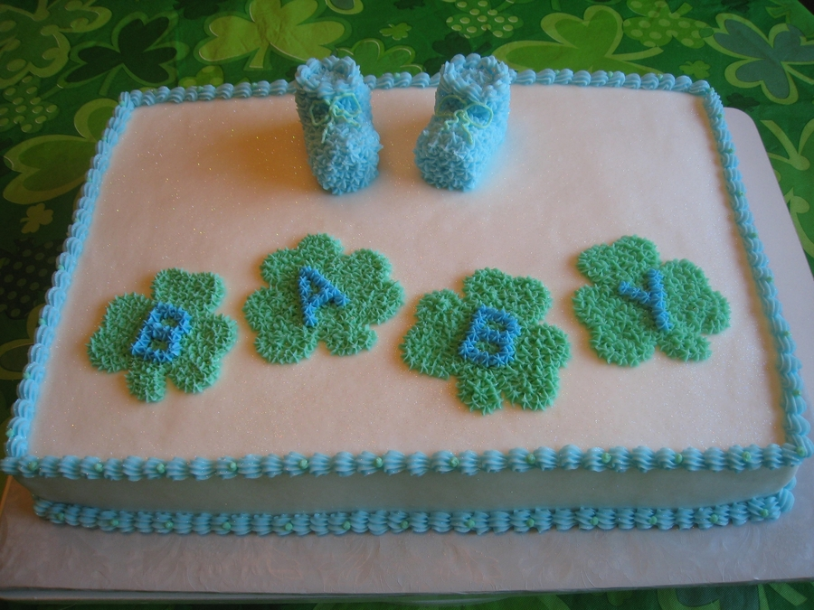 Baby Shower Cake For An Irish Family  on Cake Central