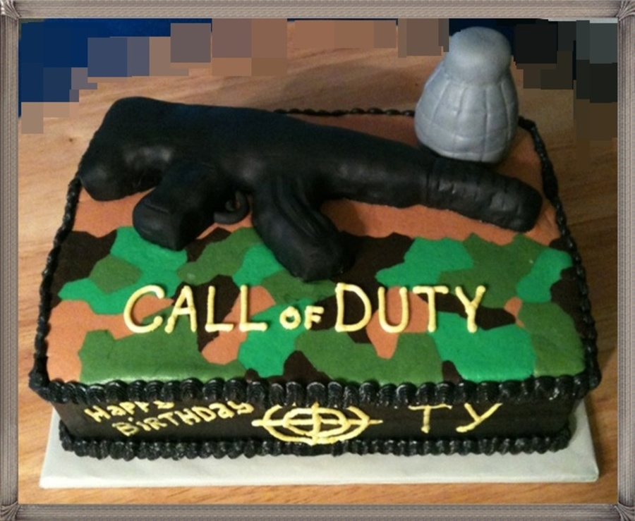 Phenomenal Call Of Duty Birthday Cake Cakecentral Com Funny Birthday Cards Online Inifodamsfinfo
