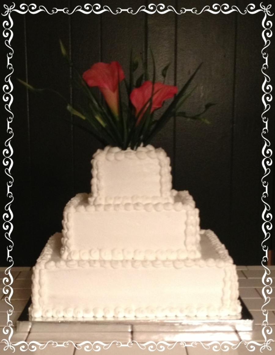 Square Wedding Cake  on Cake Central