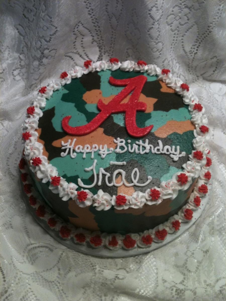 Terrific Alabama Camouflage Birthday Cake Cakecentral Com Personalised Birthday Cards Veneteletsinfo