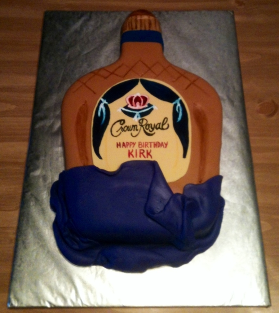 Crown Royal Birthday Cake on Cake Central