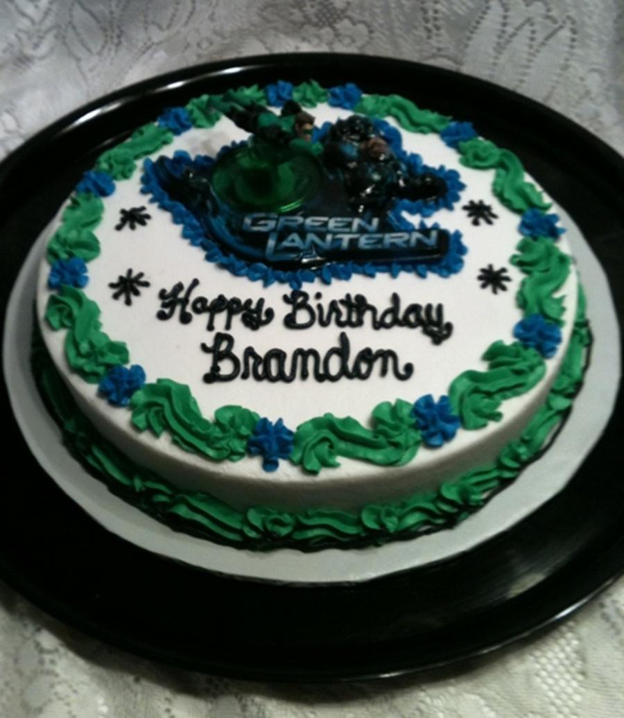 Amazing Green Lantern Birthday Cake Cakecentral Com Funny Birthday Cards Online Amentibdeldamsfinfo