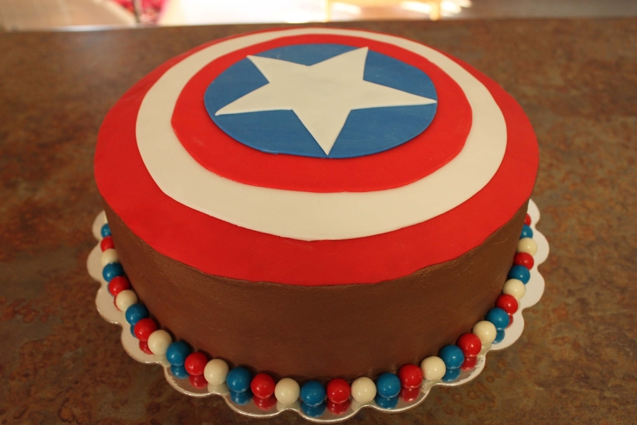 Captain America  on Cake Central