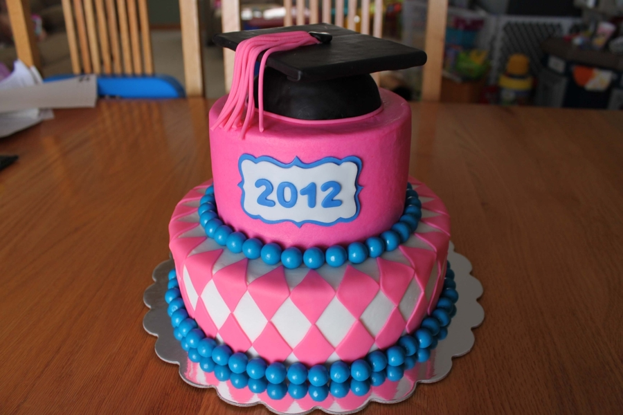 Pink Graduation Cake on Cake Central